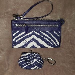 Coach wristlet and coin purse/key chain.
